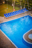Typical Empty Pool of a All Inclusive Resort Royalty Free Stock Photo