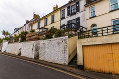 Typical English architecture, residential buildings in a row alo Royalty Free Stock Photography