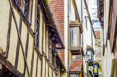 Typical English architecture, residential buildings in a row alo Stock Photo