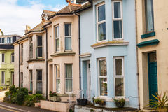 Typical English architecture, residential buildings in a row alo Royalty Free Stock Photo