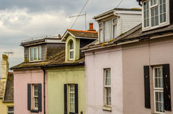 Typical English architecture, residential buildings in a row alo Royalty Free Stock Photos