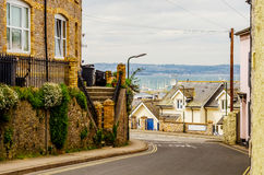 Typical English architecture, residential buildings in a row alo Stock Photography