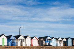 Typical English beach huts Royalty Free Stock Image