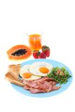 Typical english breakfast isolated Stock Photos