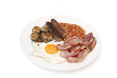 Typical english fried or cooked breakfast Stock Photos
