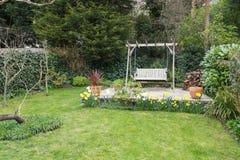 Typical English garden stock photo
