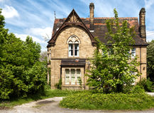 A typical English house with garden Royalty Free Stock Image