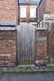 Typical English houses. Wooden doors stock photos