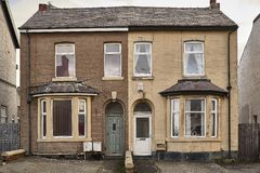 Typical English houses. In Blackpool stock photos