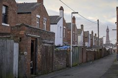 Typical English houses. In Blackpool royalty free stock image