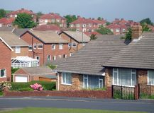 Typical English housing estate Royalty Free Stock Photography