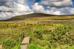 Typical English moorland in The Forest of Bowland, near Lancaster, Northern England. royalty free stock image