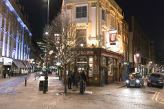 Typical English pub at Covent Garden district - London England  UK Stock Photography