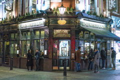 Typical English pub at Covent Garden district - London England  UK Royalty Free Stock Photo