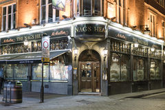 Typical English pub at Covent Garden district - London England  UK Royalty Free Stock Photos