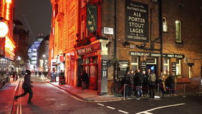 Typical  English Pub The Lyric in London west-end. LONDON, ENGLAND stock video footage