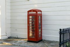 typical english red telephone booth in england royalty free stock images