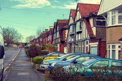 Typical english street in London. Royalty Free Stock Photos