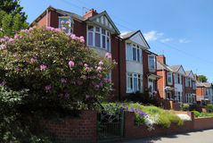 Typical English Terraced Houses Stock Images