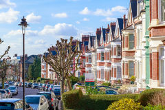 Typical English terraced houses in West Hampstead, London Royalty Free Stock Photo