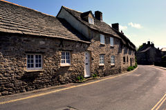 Typical English village of Corfe Castle, England Royalty Free Stock Image