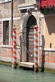 Typical entrance door in Venice Royalty Free Stock Images