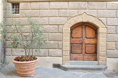 Typical entrance to the house in Tuscany Stock Photo