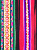 Typical Ethiopian hand-woven colorful fabric Stock Image