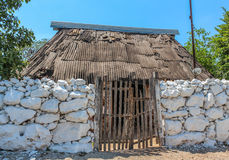 Typical ethnic minorities homes in the yucatan Royalty Free Stock Photography