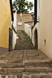 Typical European Alley in Szentendre Hungary Stock Photos
