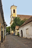 Typical European Alley in Szentendre Hungary Stock Photo