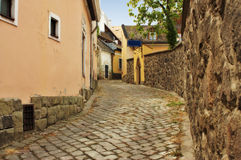 Typical European Alley in Szentendre Hungary Royalty Free Stock Images