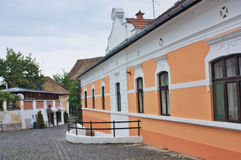 Typical European Alley in Szentendre Hungary Stock Image