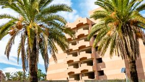 Residential Apartment Block Marrakech Property royalty free stock photo