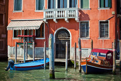 Typical facade of house in Venice, Italy Stock Photography