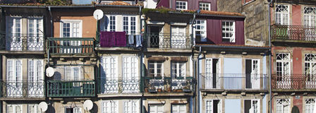 Typical facade of houses in Porto Royalty Free Stock Photography