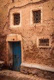 Typical facade in the medina. Ouarzazate. Morocco. Stock Photos