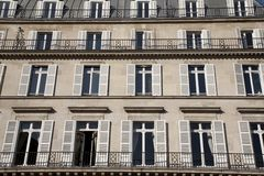 Typical Facade in Paris. France, Europe Royalty Free Stock Photos