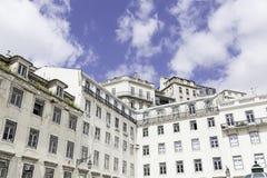 Typical facade tile in Lisbon Stock Photos