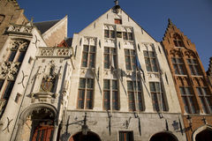 Typical Facades in Bruges. Belgium; Europe Royalty Free Stock Photography