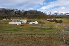 Typical Farm House at Icelandic Fjord Coast. Europe Royalty Free Stock Image
