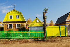 Typical farmstead and outbuildings in Mari El, Russia Stock Photography