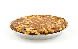 Typical filled Dutch pie with almond Royalty Free Stock Photo
