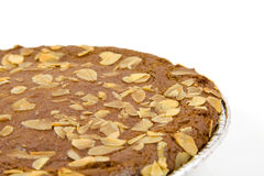Typical filled Dutch pie with almond Stock Images