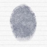 Typical finger print. Illustration of a typical finger print Stock Photo