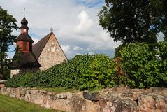 Typical finnish church in the summer Royalty Free Stock Photos