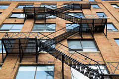 Typical Fire Escape Royalty Free Stock Photos