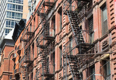 Typical Fire Escapes in New York City Royalty Free Stock Photos