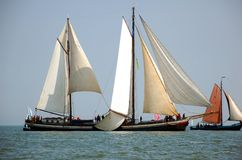 Typical fish boats in the sea, Netherlands Royalty Free Stock Photos