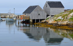 Typical fisherman shack Royalty Free Stock Images